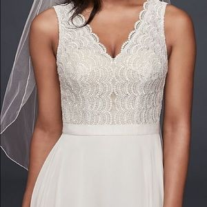 Scalloped Lace Wedding Gown
